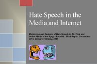 "Latest Hate Speech Report in Kyrgyzstan: abusive speech in public discourse and the ""Charlie Hebdo effect"""
